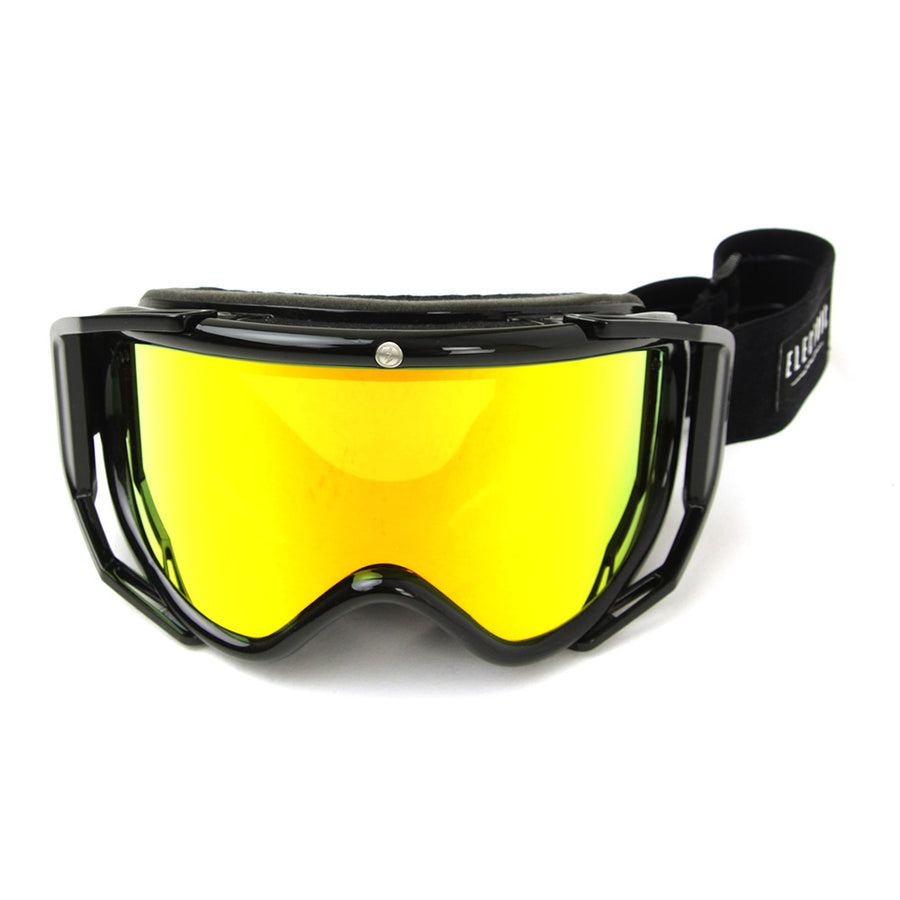 Rig Gloss Black + Bonus Lens Goggles/Bronze/Red Chrome