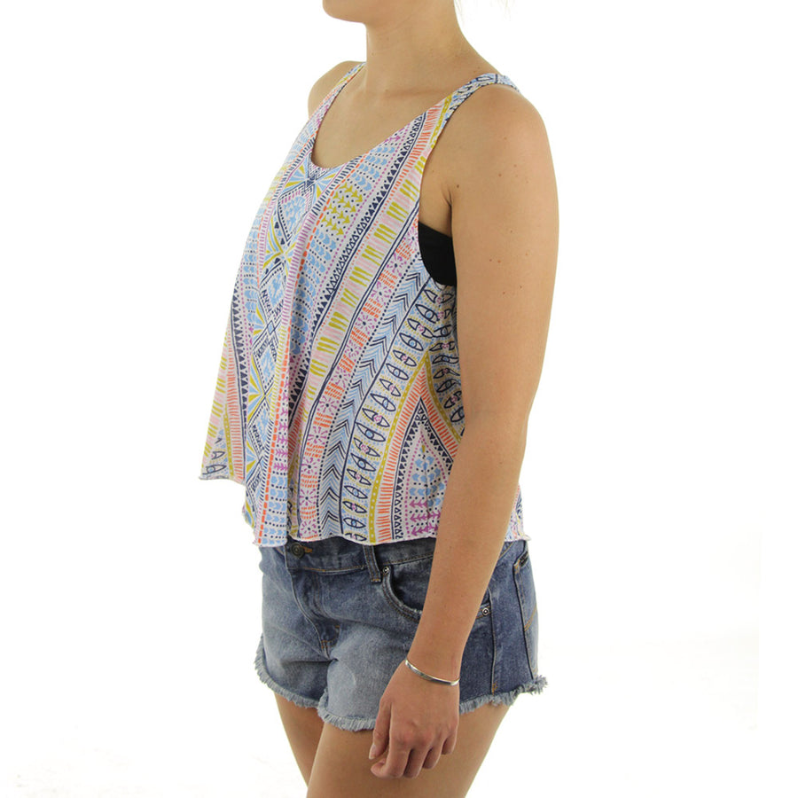 Cool Whip Aztec Girl's Tank/White/ Multicolour