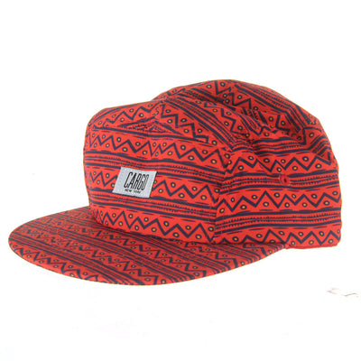 Tribal 5 Panel Cap/Red/Navy