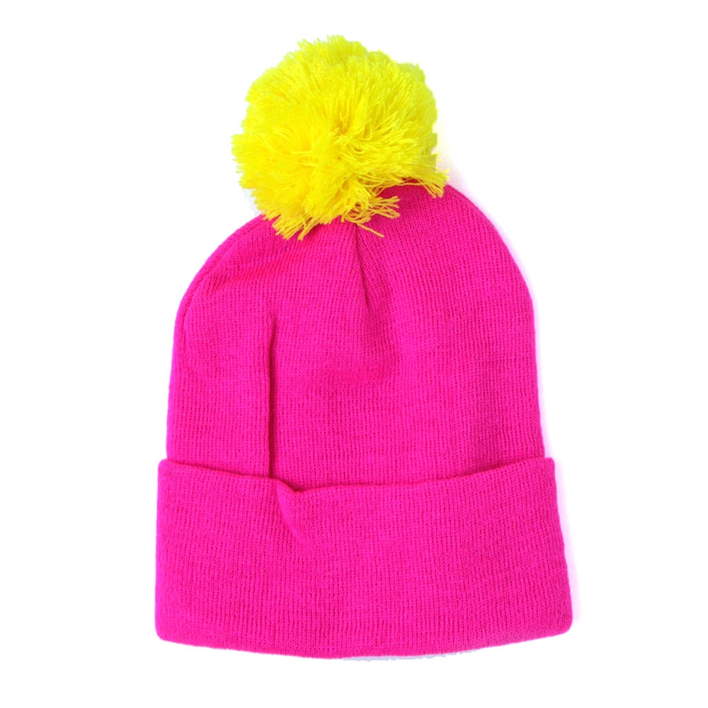 a3e5f79fa40 Buy Two Tone Pom Beanie Pink Yellow Online in New Zealand - LAST SEASON  LIMITED