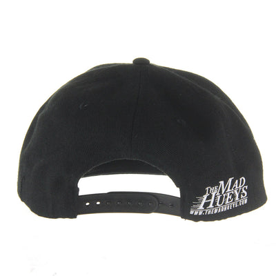 Raised Marlin Snapback/Black