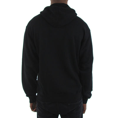 Action Embroidery Zip Black