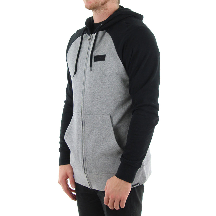 Core Icon Zip Hoodie/Grey/Black