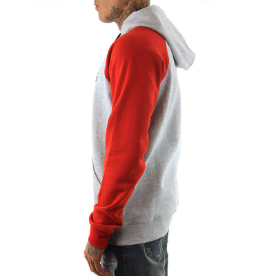 RC Raglan Pullover - Ash Heather/Red