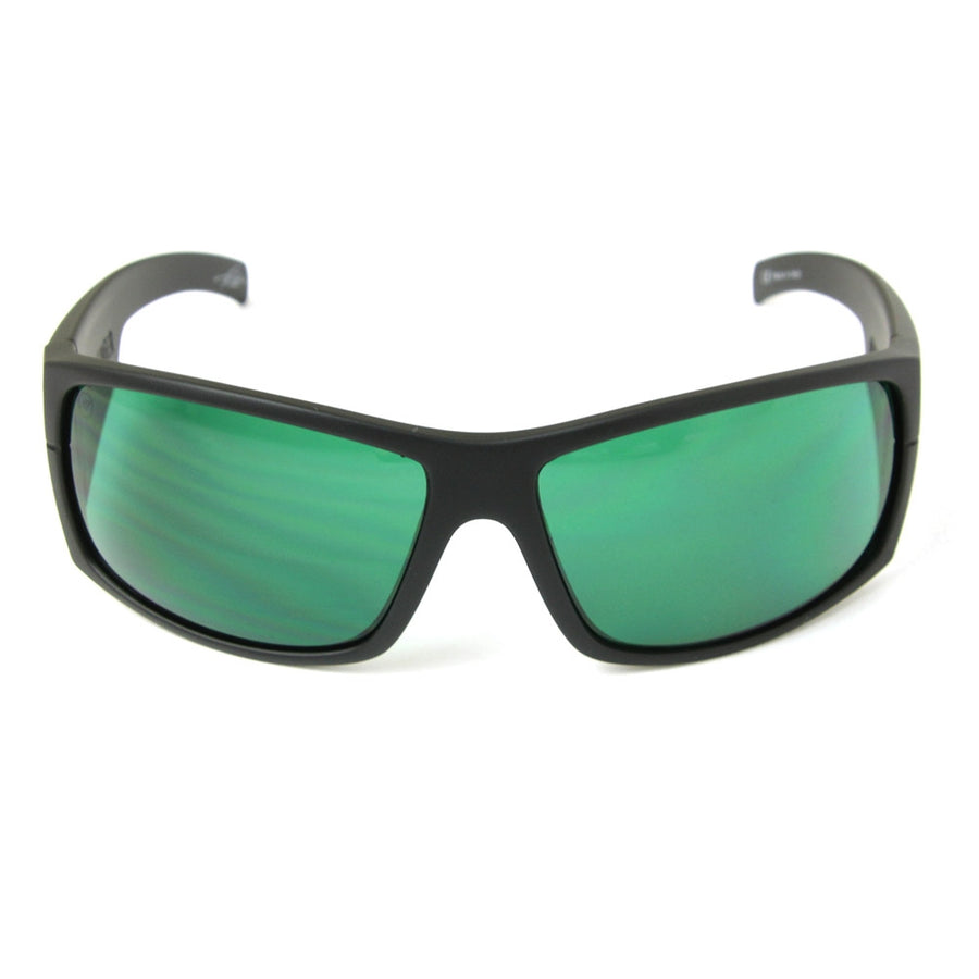 Mudslinger Sunglasses/Matte Black/Green Lens