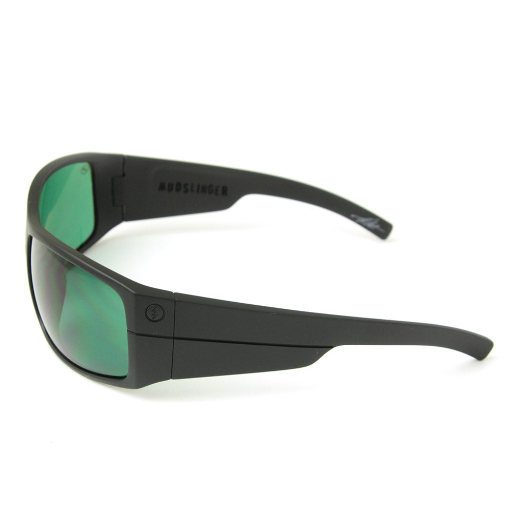 ff6d7ea422 Buy Mudslinger Sunglasses Matte Black Green Lens Online in New ...