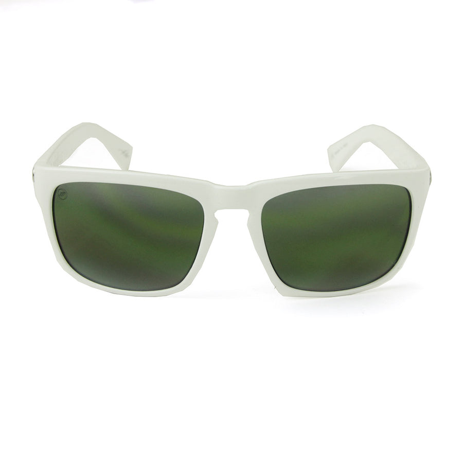 Knoxville Sunglasses/Alpine White/Green Lens