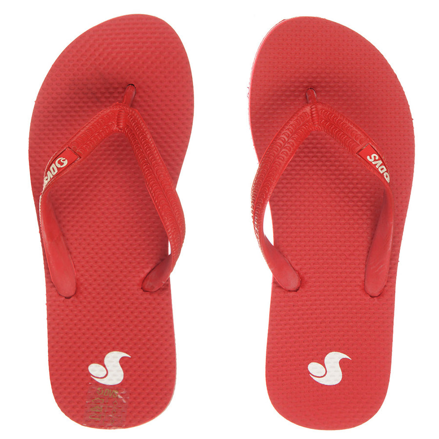 Marbella Womens Jandals Shoes/Red/White