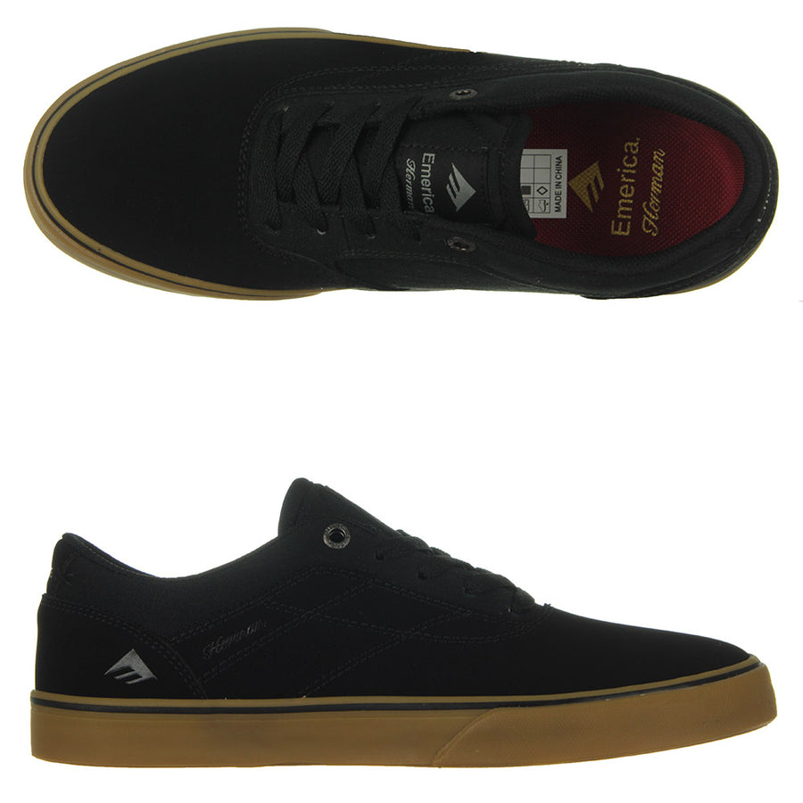 The Herman G6 Vulc Shoes/Black/Black/Gum