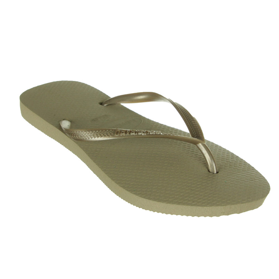 Slim Jandals/Light Gold