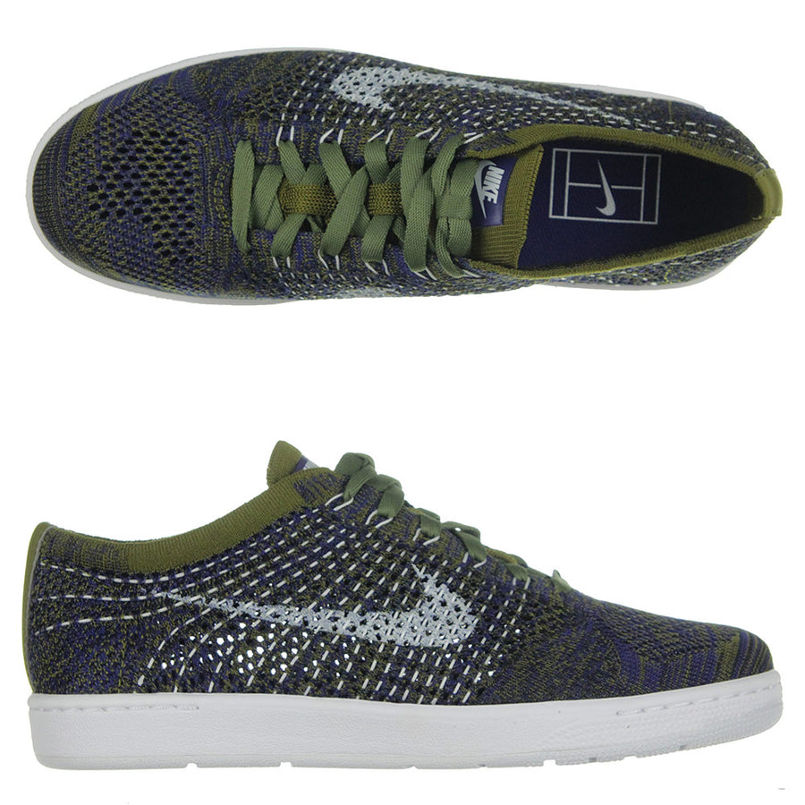 Classic Ultra Flyknit Shoes/Blue/Olive/White