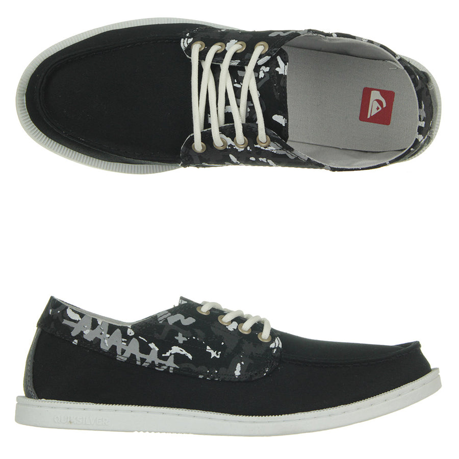 Dredge Print Shoes/Black/Grey/White