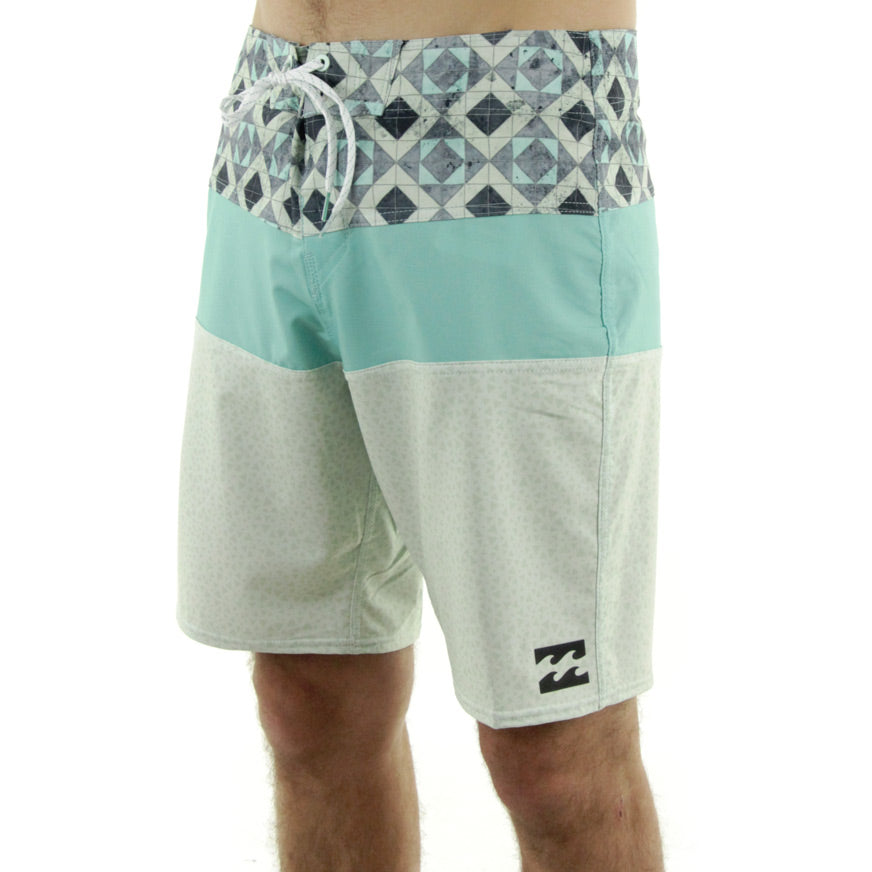 Geometric Boardshorts/Teal