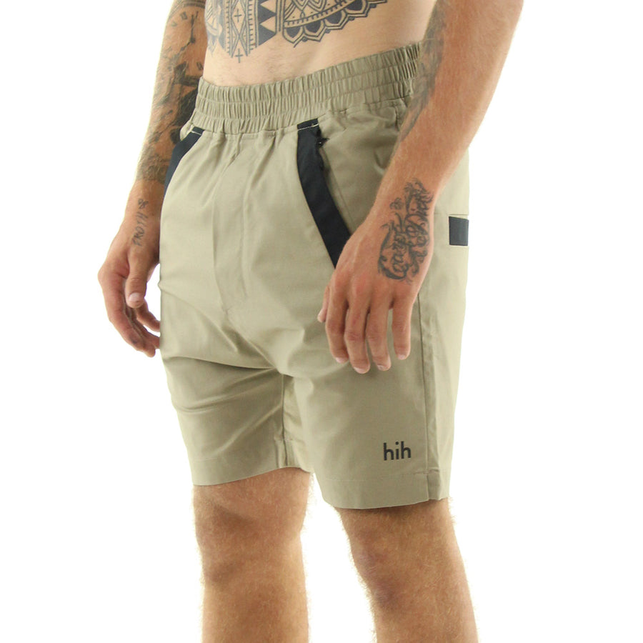The Yes Shorts/Tan with Black