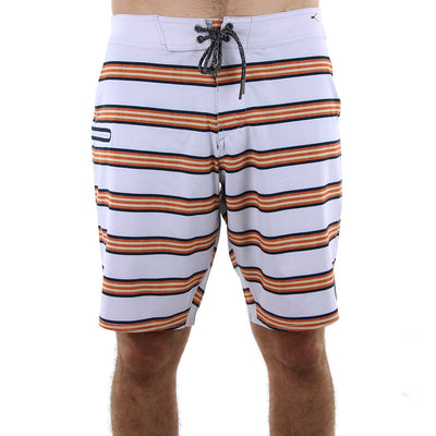 Quadrangle Boardshorts/Shell/Orange/Blue Stripe