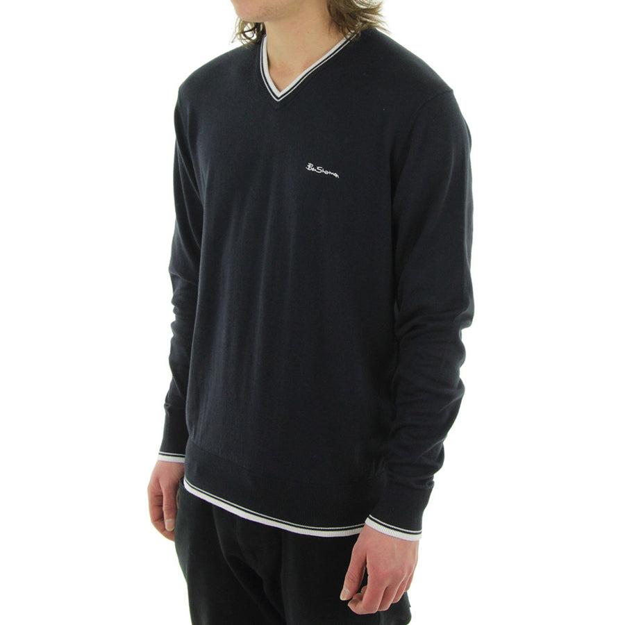 Tipped Knit/Navy
