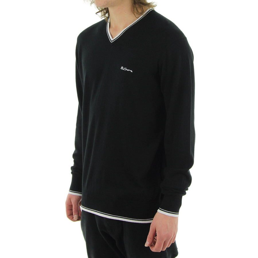 Tipped Knit/Black