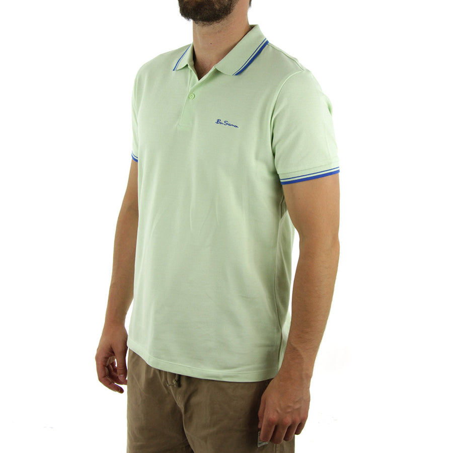 Script Polo Collared Shirt/Margarita