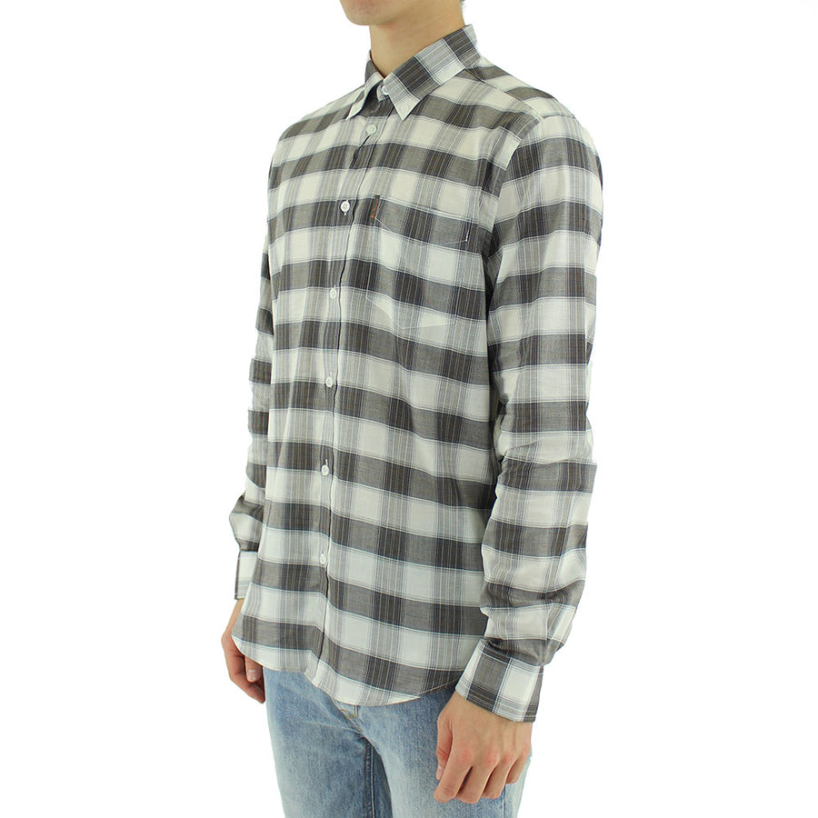 Large Check Collared Shirt L/S
