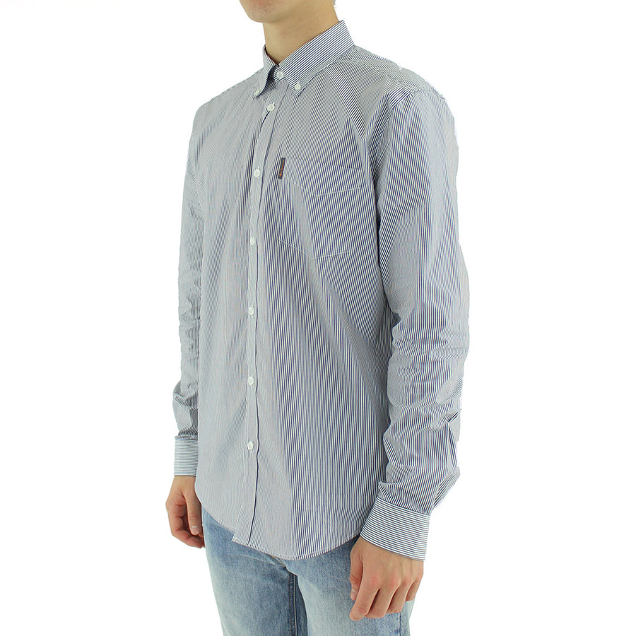 Pin Stripe Collared Shirt L/S