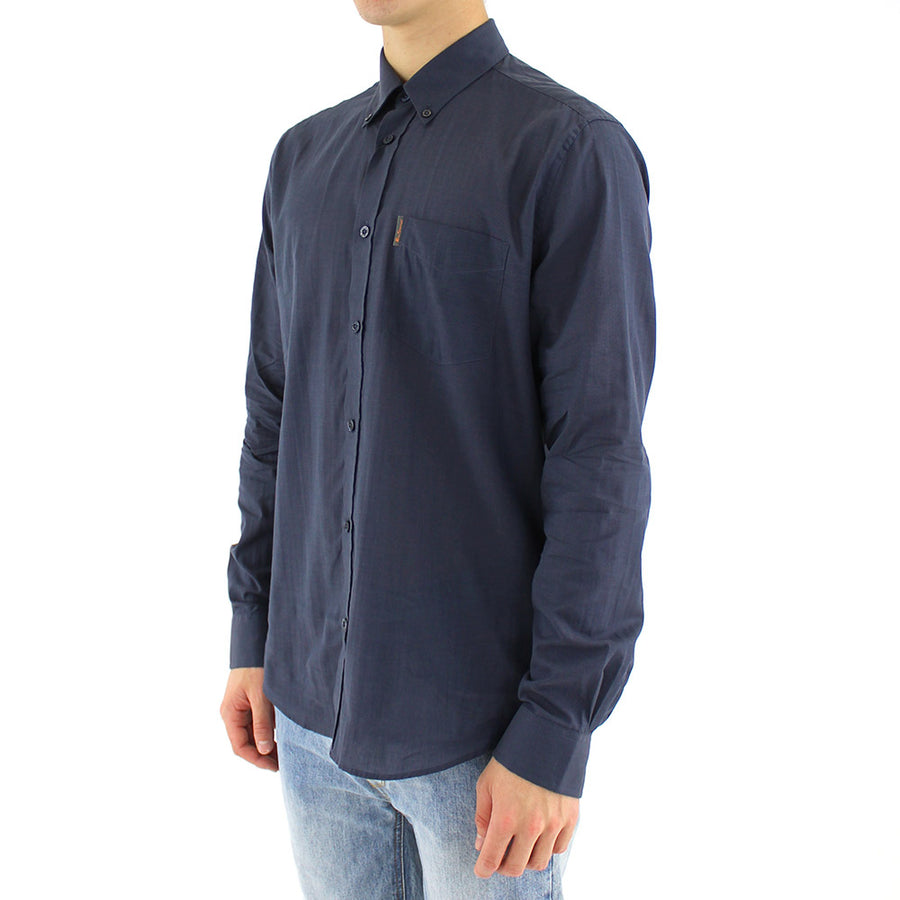 Textured Collared Shirt L/S