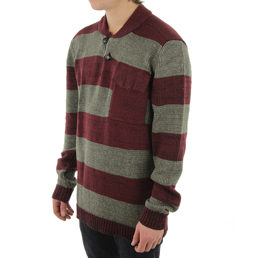 Christian Knit/Grey/Maroon