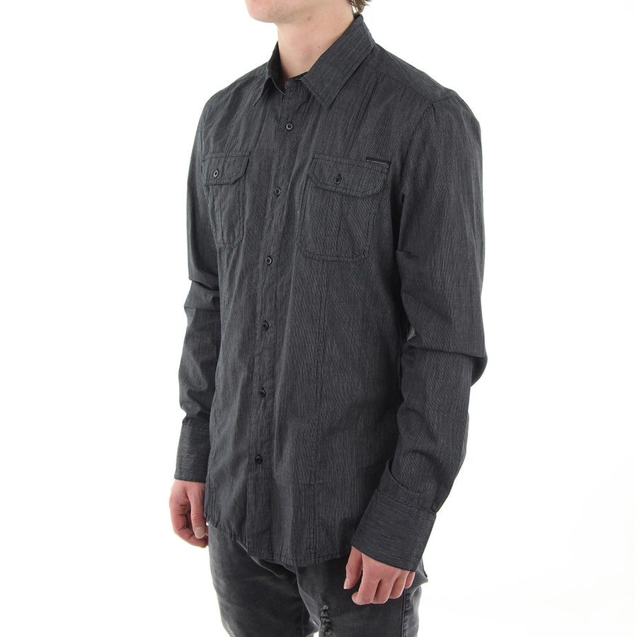 Crowded Collared Shirt/Black