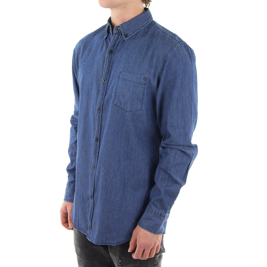 Trous Collared Shirt/Blue