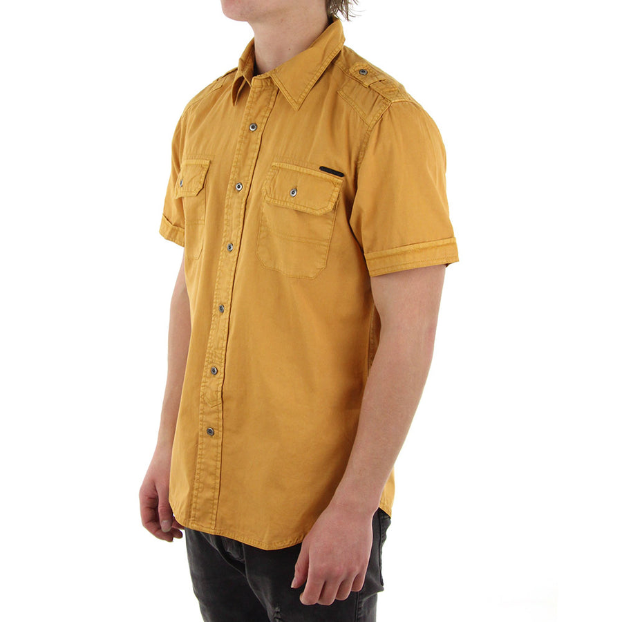 Function Collared Shirt/Custard