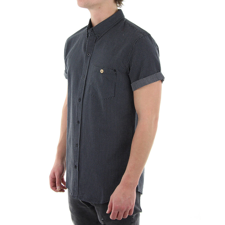 Cross Collared Shirt/Black