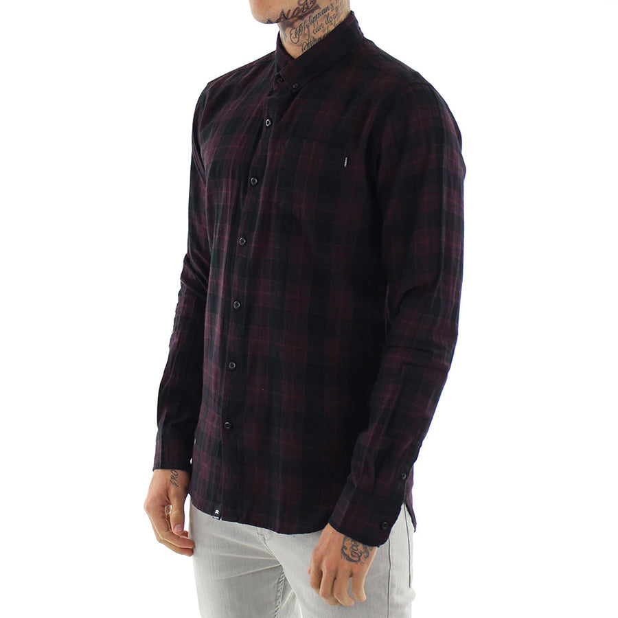 Form L/Sleeve Check Collared Shirt