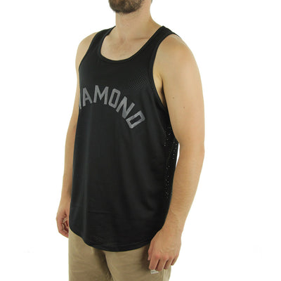 Diamond Arch Basketball Tank Black