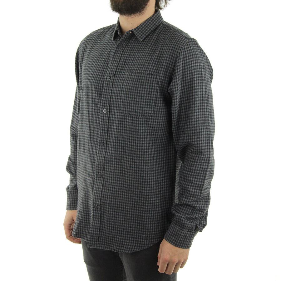 Barkly LS Collared Shirt/Grey Marle