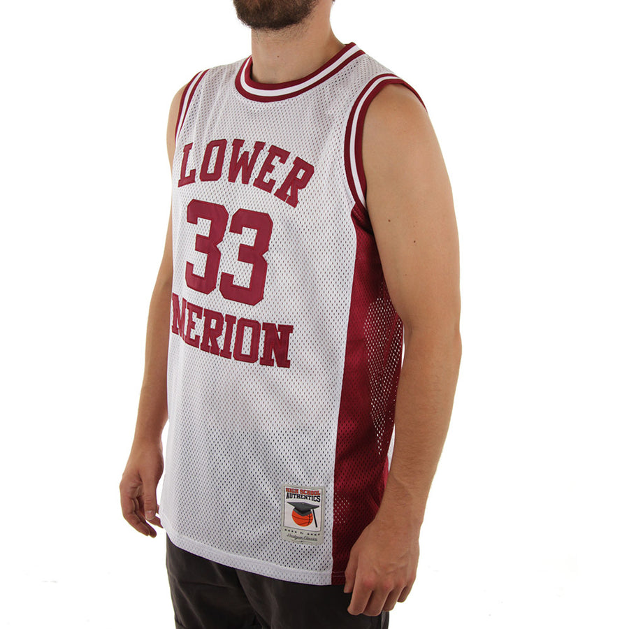 Bryant Basketball Jersey/White/Maroon