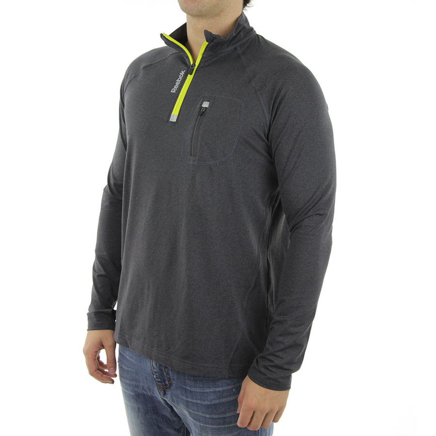 Active 1/4 Zip Jacket Top/Charcoal