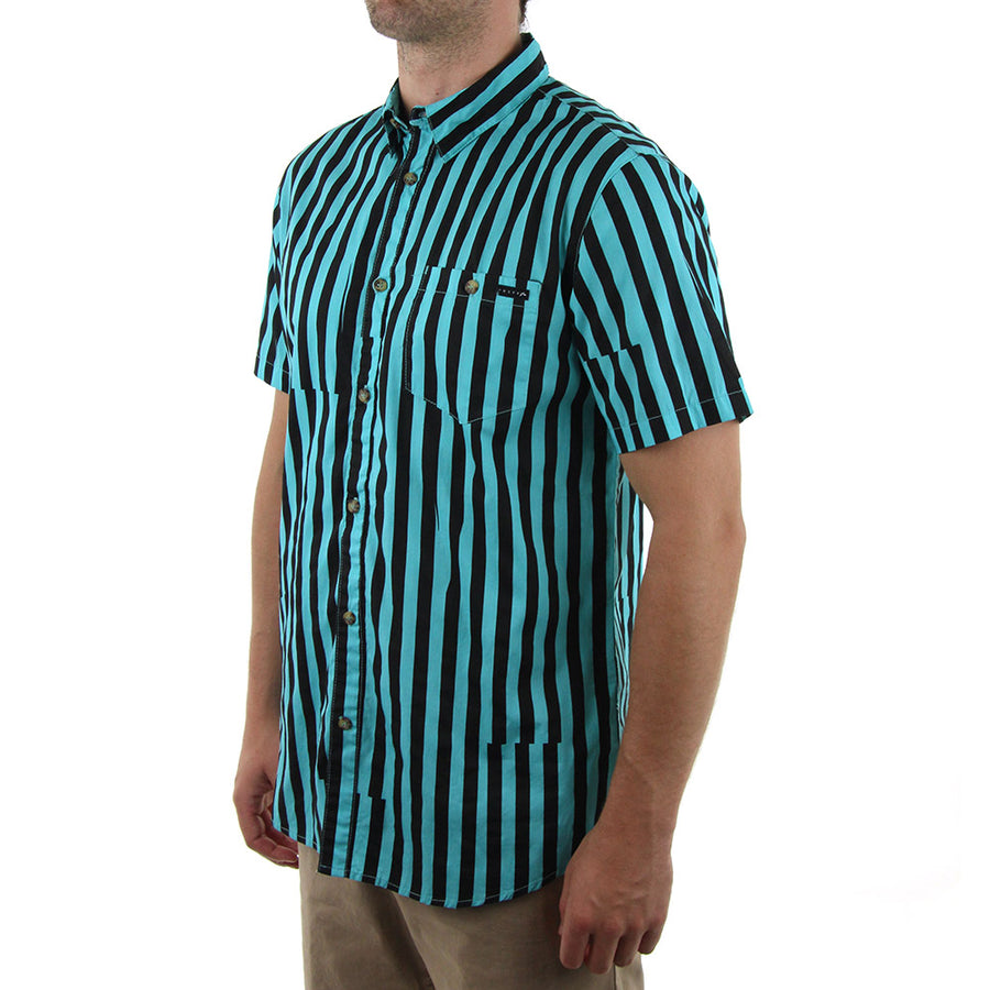Peepshow Collared Shirt/Oahu Blue