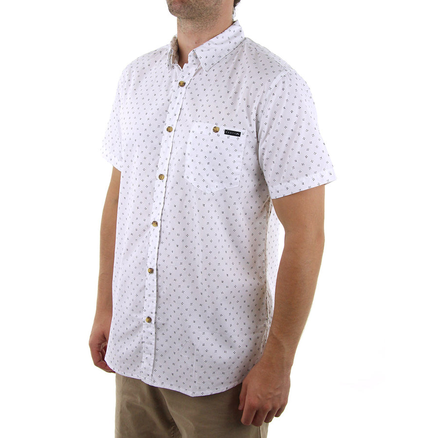 Sessions Collared Shirt/White