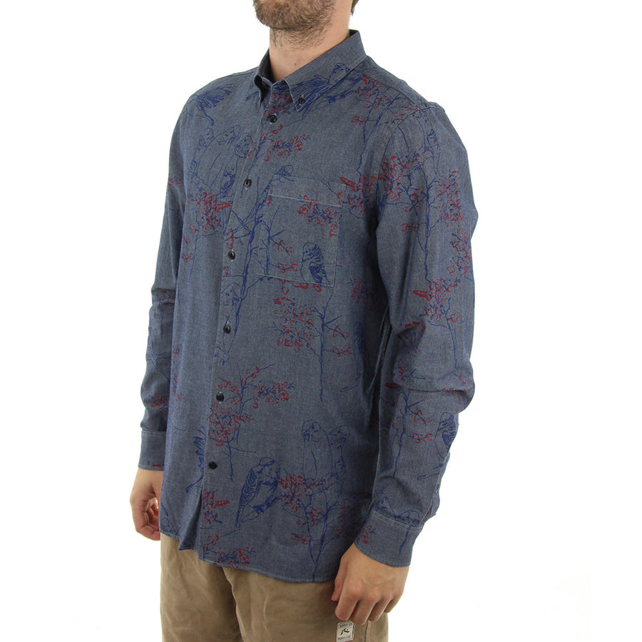 Onyx Collared Shirt/Marina Blue
