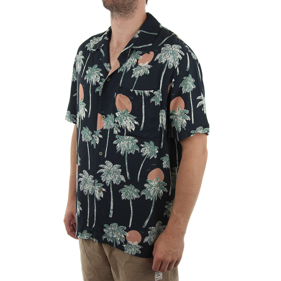 Nevin Hawaii Collared Shirt/Pirate Black