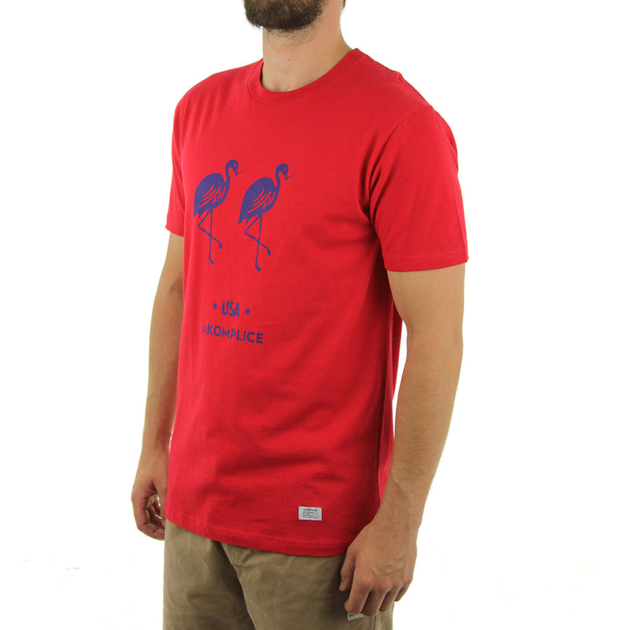 Black Flamingos Tee Tee/Red