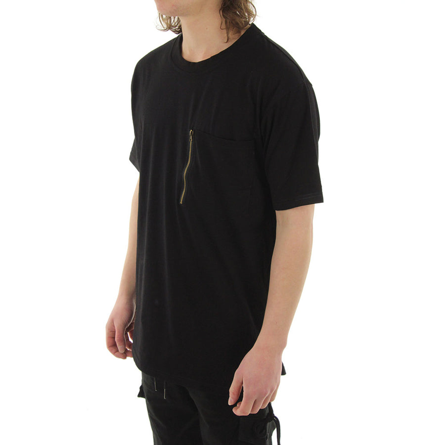 Zip Pocket Tee Tee/Black