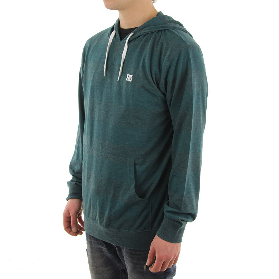 Dixion Striped Hoodie Long Sleeve Tee/Forest Green/Green