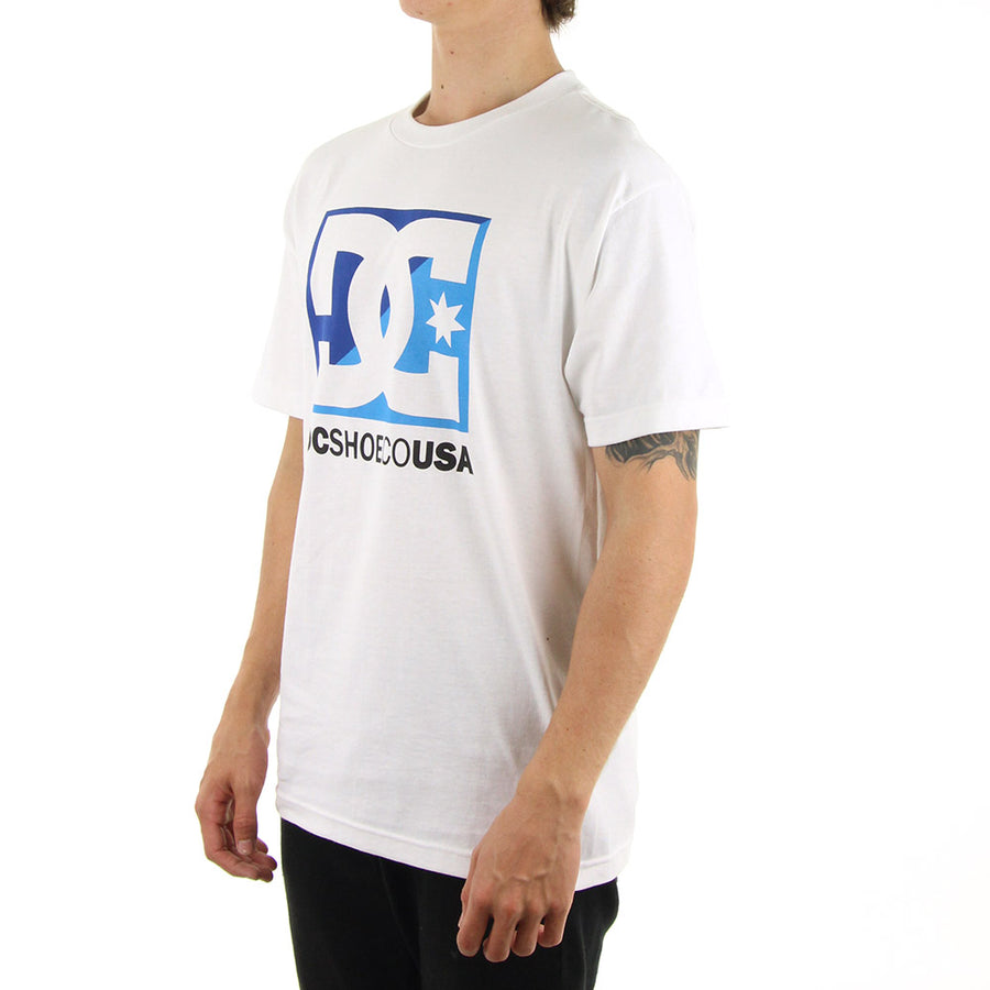 DC CROSS STAR Tee/White/Blue