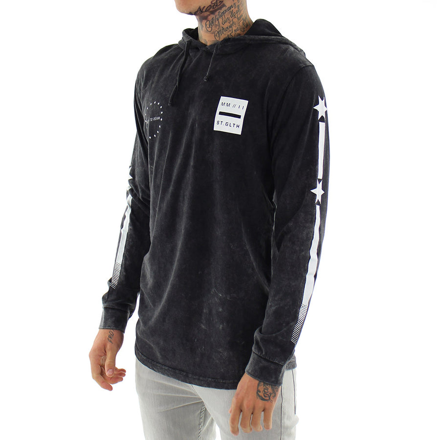 Tee Revere Hooded Long Sleeve Tee/Black