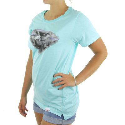 Pixelated BF Women's Tee/Diamond Blue