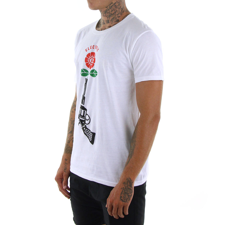 Flower Power Tee/White