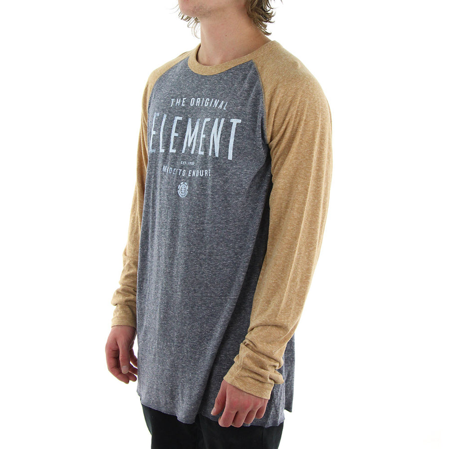 Built LS Raglan Tee/Brown/Grey
