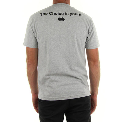 Choice is Yours Tee/Heather Grey