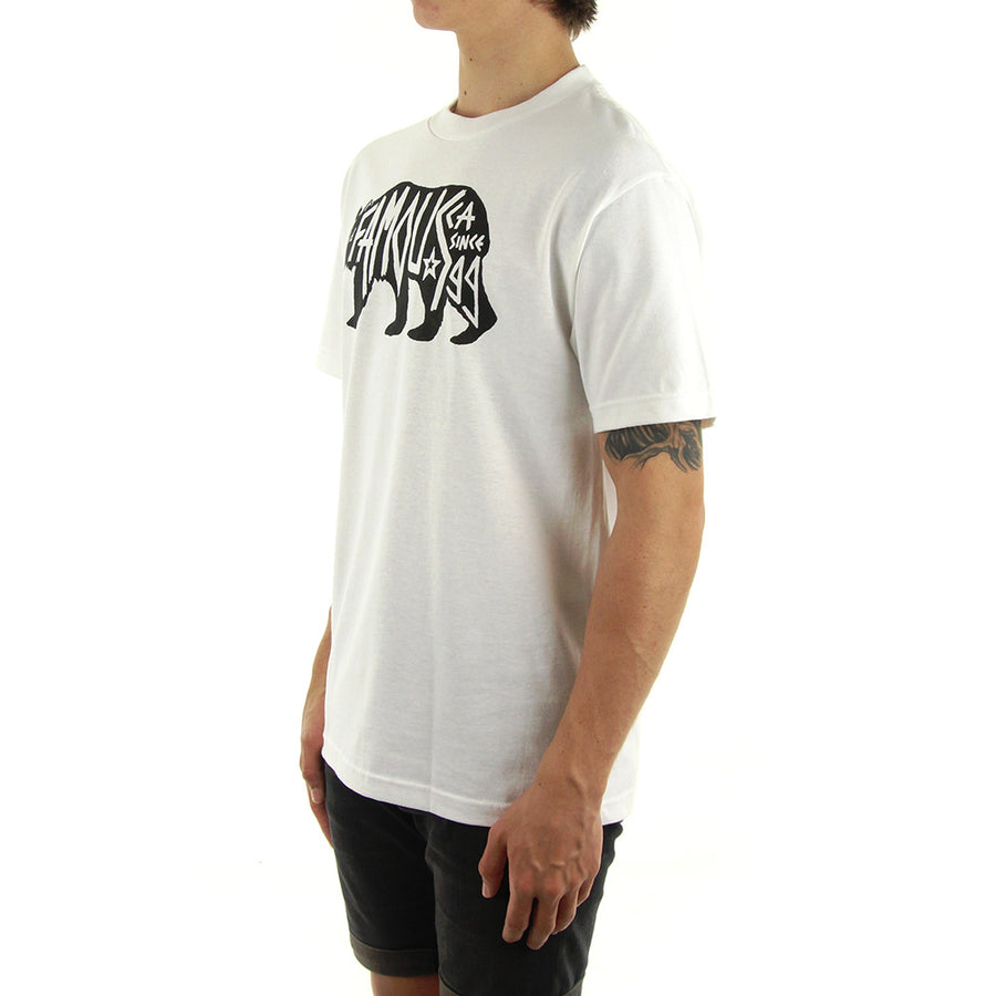 Bear It Down Tee/White/Black