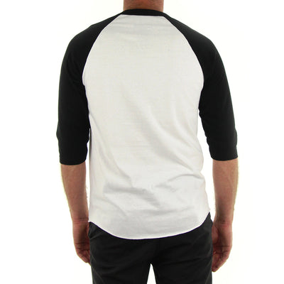 Black Mass Raglan Tee/White/Black
